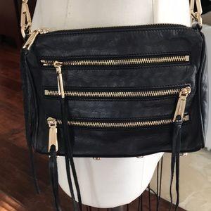 Rebecca Minkoff fringe black crossbody bag